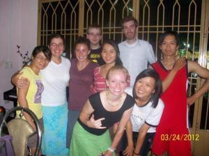 Vietnamese friends we met on our own.