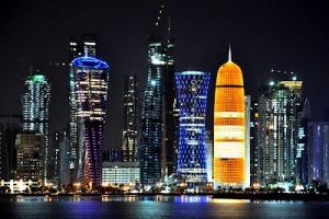 The amazing Qatari skyline. My camera didn't work unfortunately, so this pic is from qatariadventures.blogspot.com