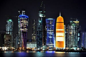 The amazing Qatari skyline. My camera didn't work unfortunately, so this pic is from qatariadventures.blogspot.com