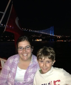 My first night in Istanbul on a boat in the harbour!