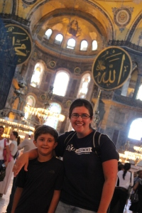 Efe and I inside the main hall.
